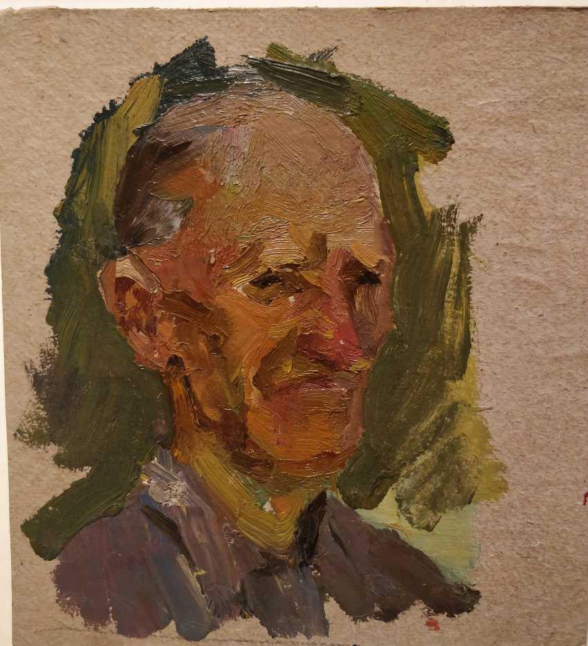 Olena Balykova. Portrait of an old man - photo 1