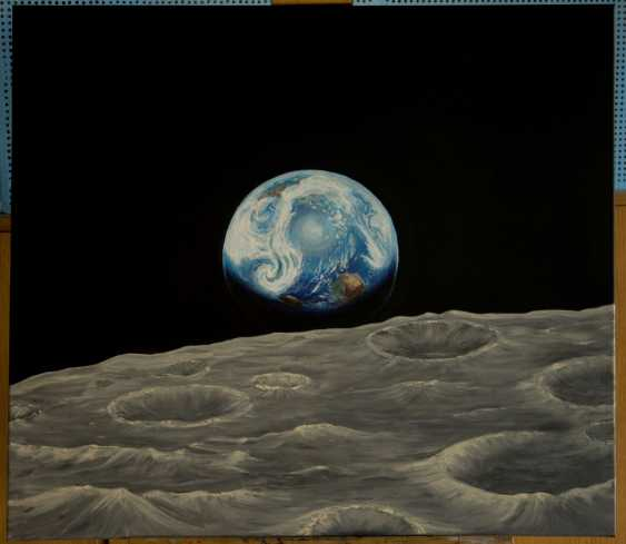 Olga Pris. Earth rise over the Moon. Space. Universe. - photo 1
