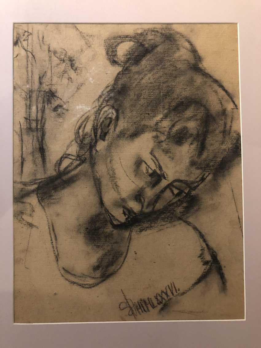 PORTRAIT OF A WOMAN. Yuri Gurov. 1986 - photo 1