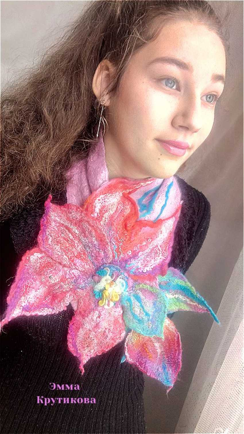 "Emma Krutikova. Scarf ""Primrose"". - photo 1"