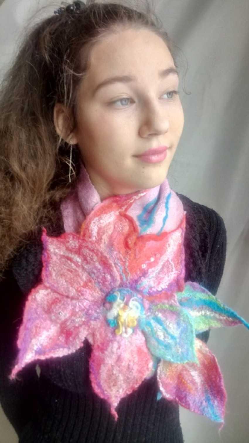 "Emma Krutikova. Scarf ""Primrose"". - photo 2"