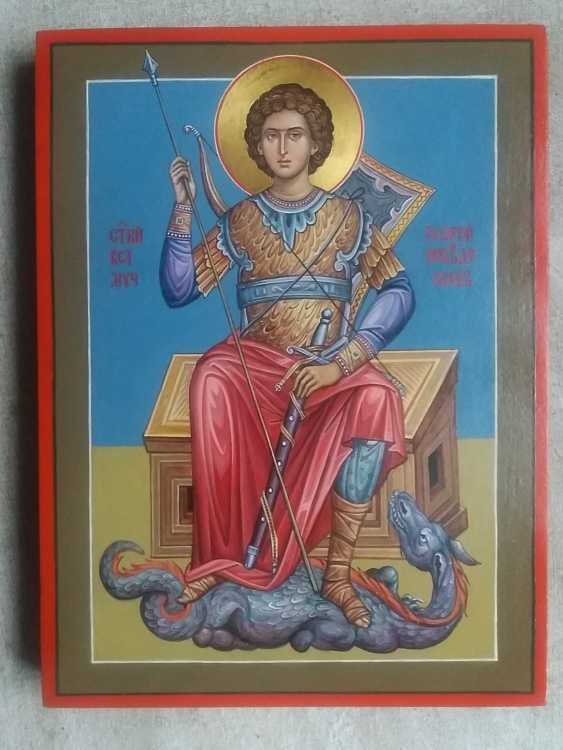 Slava Nikityuk. The icon of the Holy great Martyr George the victorious. - photo 2
