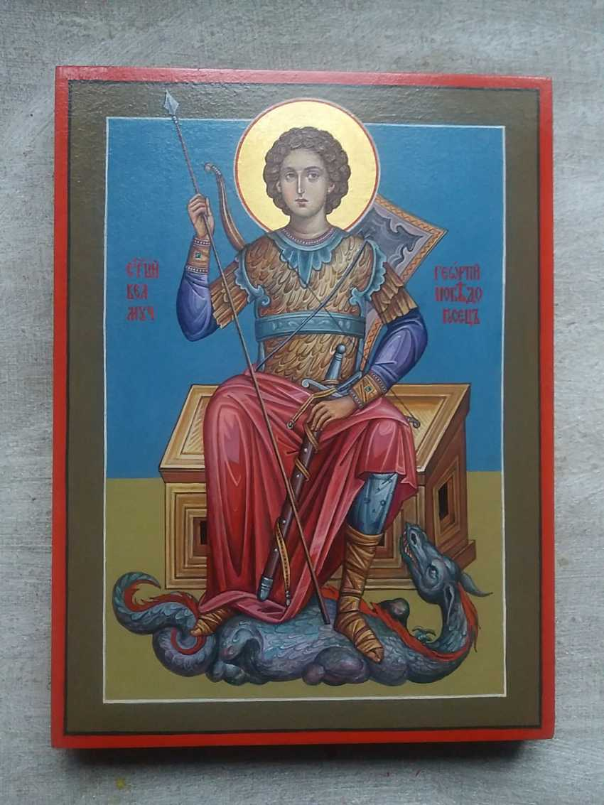 Slava Nikityuk. The icon of the Holy great Martyr George the victorious. - photo 3