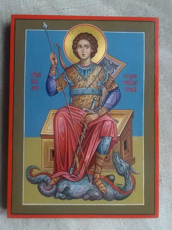 Slava Nikityuk. The icon of the Holy great Martyr George the victorious. - photo 4