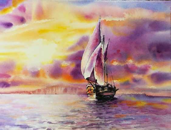 Vladislava Frizyuk. la mer coucher de soleil - photo 1