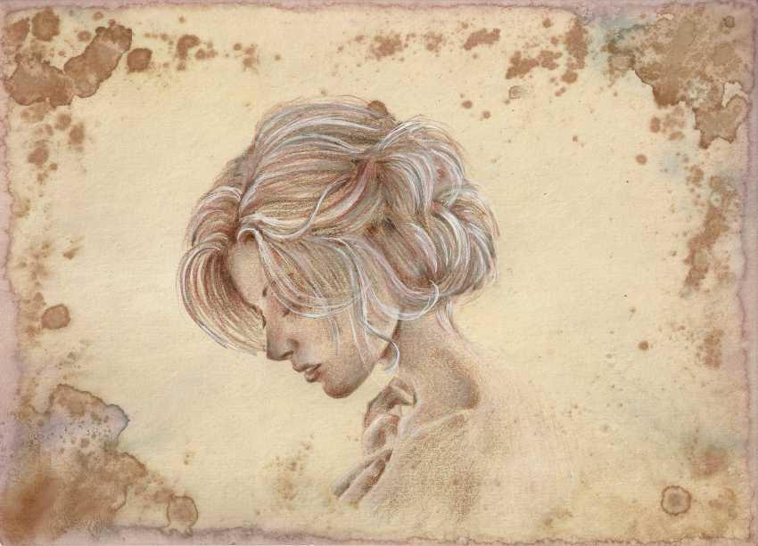 Natasha Mishareva. Vintage. Drawing, handwork, 2019 the Author - Natalia Pisareva - photo 1
