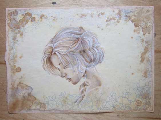 Natasha Mishareva. Vintage. Drawing, handwork, 2019 Author - Pisareva Natalia - photo 1