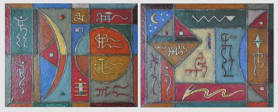 Alexander LEBEDEF. LUNAR HOROSCOPE (diptych) - photo 1