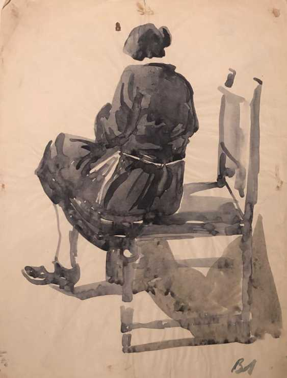 SKETCH OF SEATED WOMAN - photo 1
