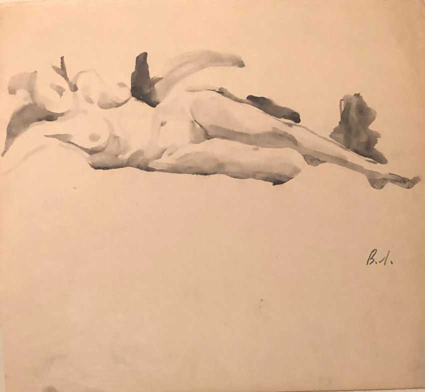 SKETCH OF A RECLINING WOMAN - photo 1