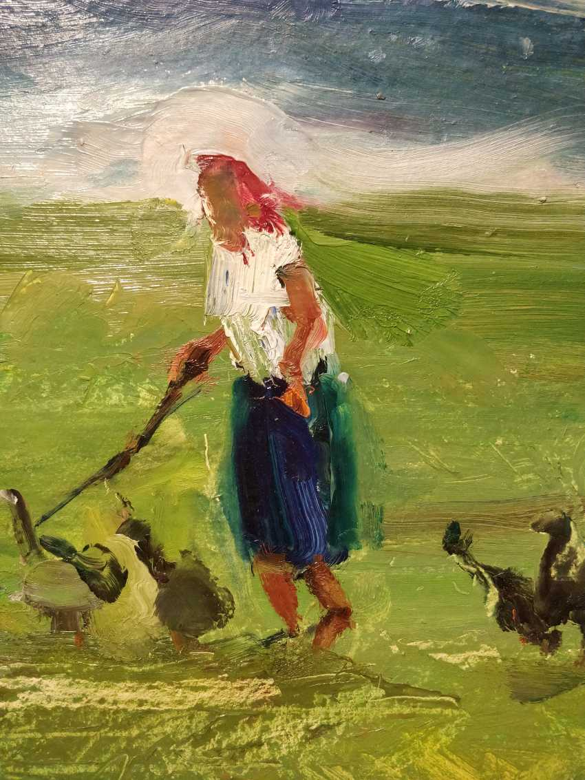 Olena Balykova. Old woman and geese - photo 3