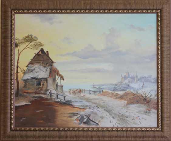 "Jelena Lebedeva-Dvorecka. F.M.Kruseman, ""Coming home (1846)"", free copy. - photo 1"