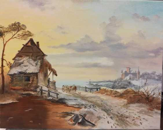 "Jelena Lebedeva-Dvorecka. F.M.Kruseman, ""Coming home (1846)"", free copy. - photo 3"