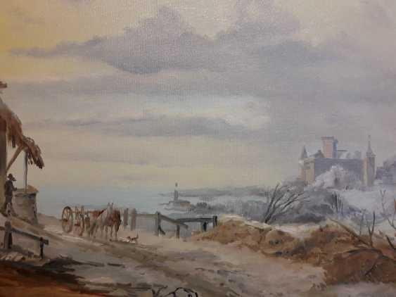 "Jelena Lebedeva-Dvorecka. F.M.Kruseman, ""Coming home (1846)"", free copy. - photo 4"