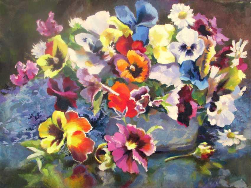 """Igor Pautov. Oil painting """"pansies"""" - photo 1"""