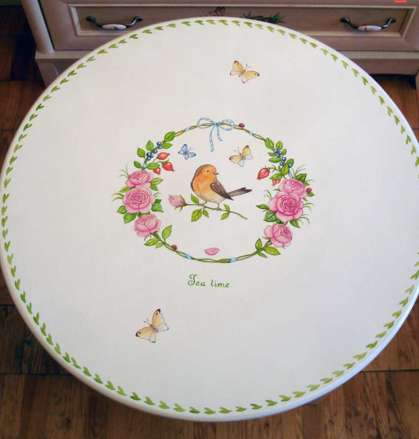 Irina Nevshupa. Coffee table with painting (solid alder) - photo 3
