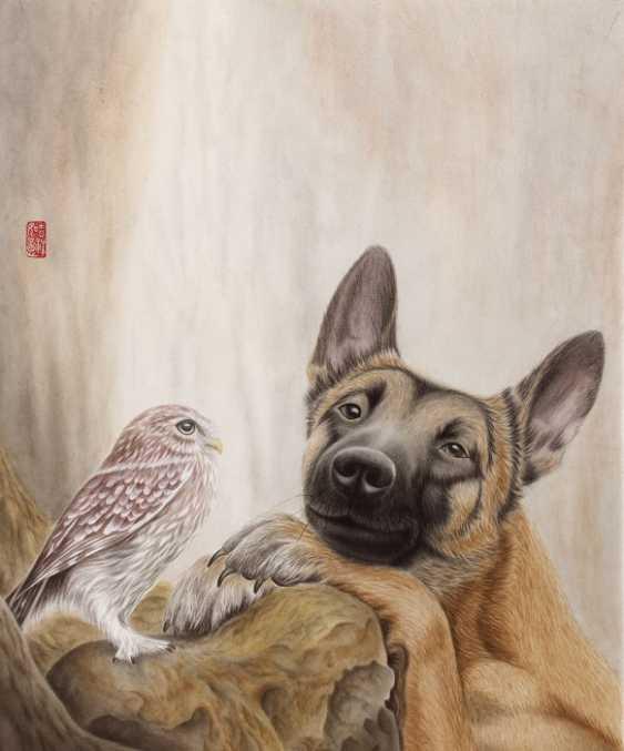 Svetlana Lupanova. A dog with an owl - photo 1