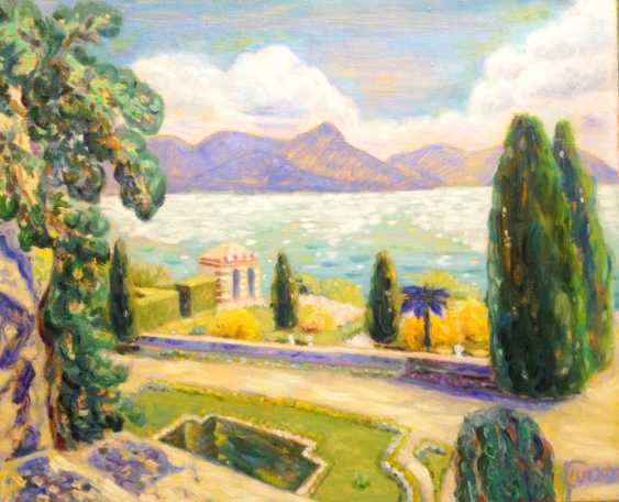 Alla Senatorova. Landscape with cypresses. - photo 1