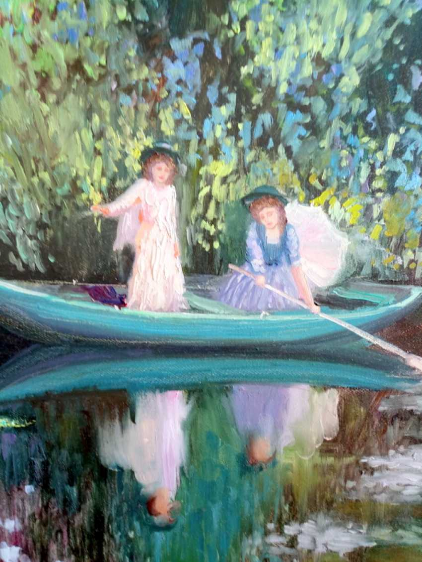 Elena Shipunova. Girls in the boat. Summer day. - photo 2