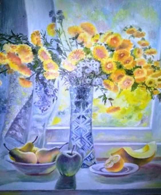 Anelia Kuzmenko. Yellow chrysanthemum - photo 1