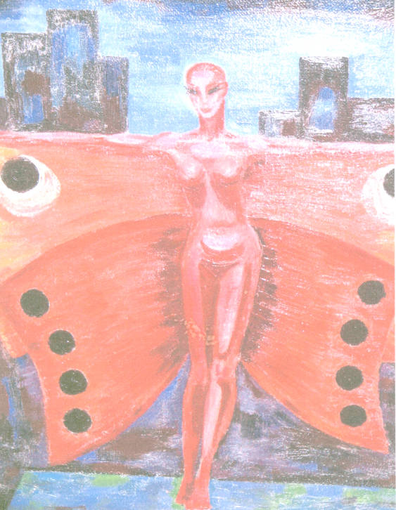 Alla \almoro\ Morozova. RED BUTTERFLY. SOLD. - photo 1