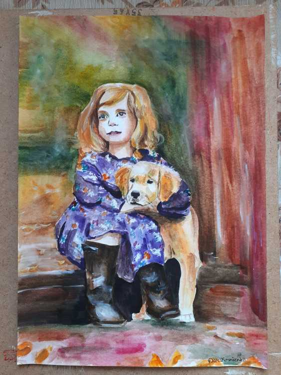 Daria Kornienko. A girl with a dog - photo 1