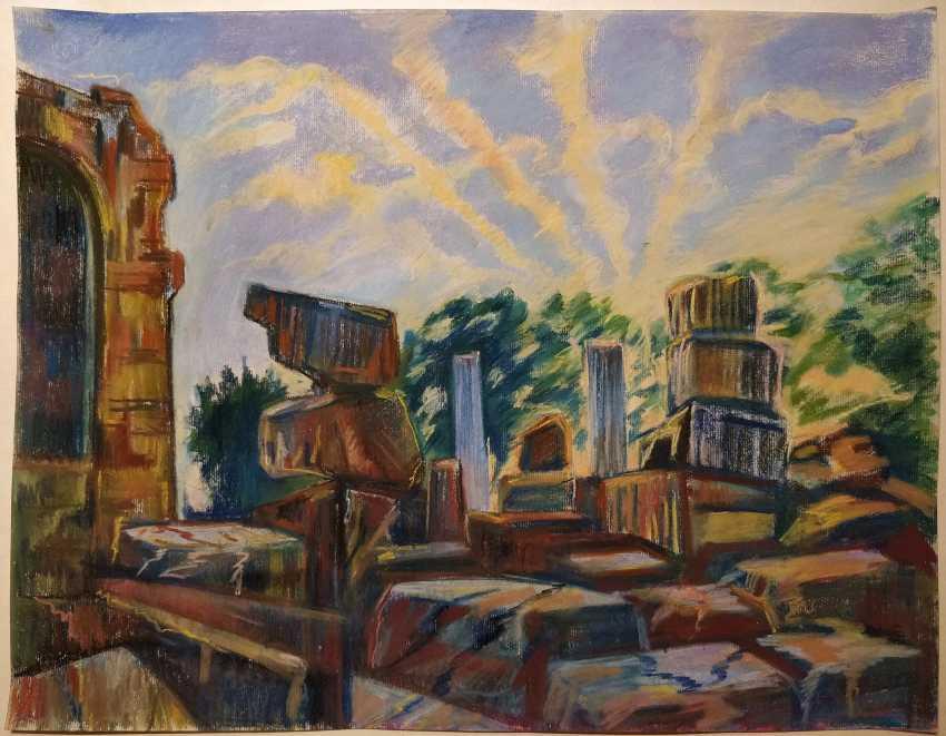 Olena Balykova. Ruins of an old town - photo 1
