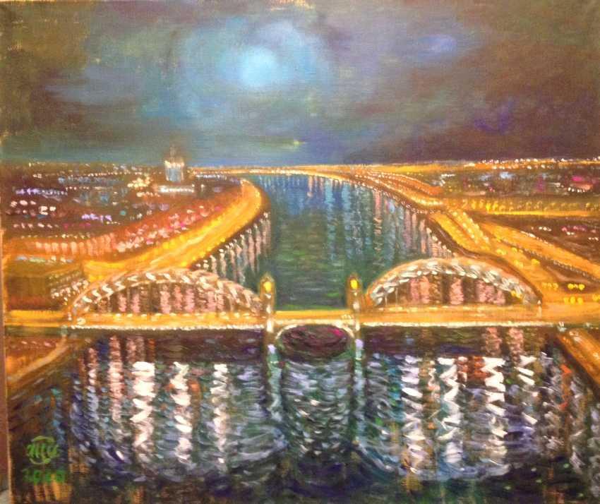 Alla Senatorova. Okhtinsky bridge. - photo 1