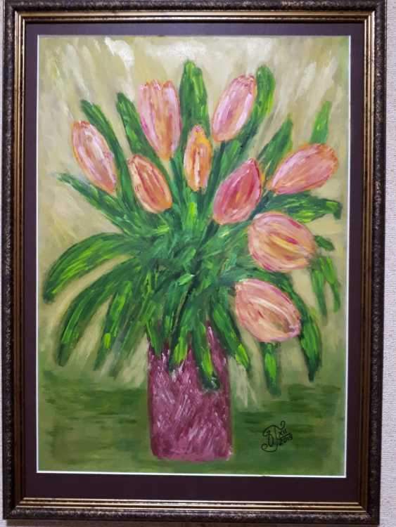 "Olga Gorshkova. ""Tulips in a vase""(2) - photo 2"
