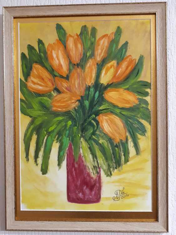 "Olga Gorshkova. ""Tulips in a vase"" (1) - photo 2"