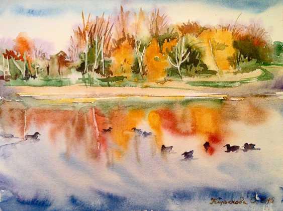 """Olga Kiryakova. """"On the lake. Autumn. Dudergof channel"""" - photo 1"""