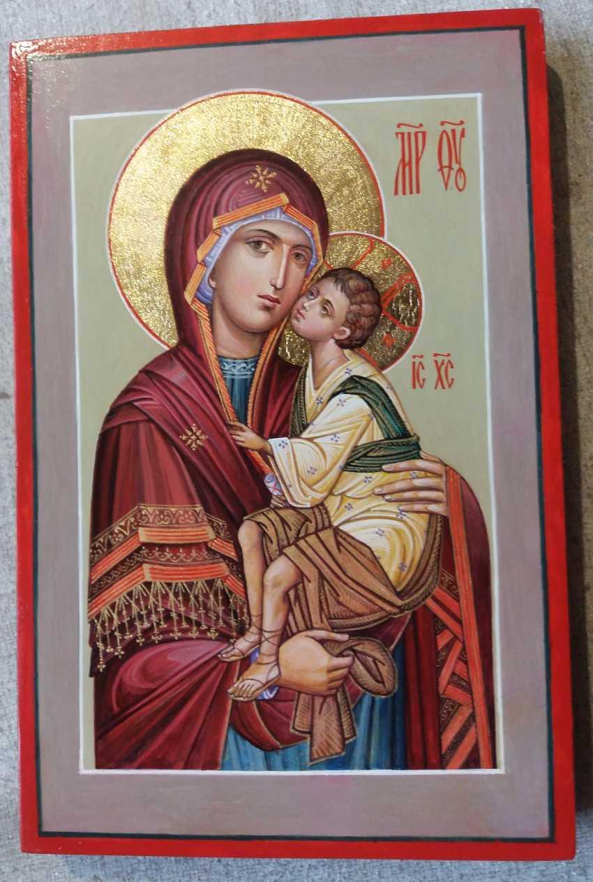 Slava Nikityuk. Mother of God Tenderness mother of God of Tenderness icon of the written - photo 1