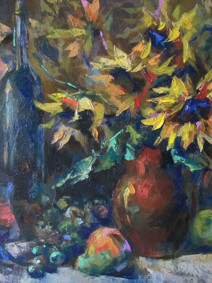 Yulia Bird. Bouquet of sunflowers and red wine. - photo 2