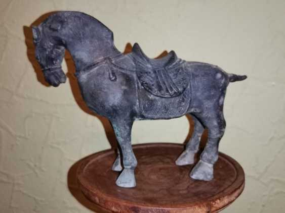 Antique bronze Tang horse. China - photo 1
