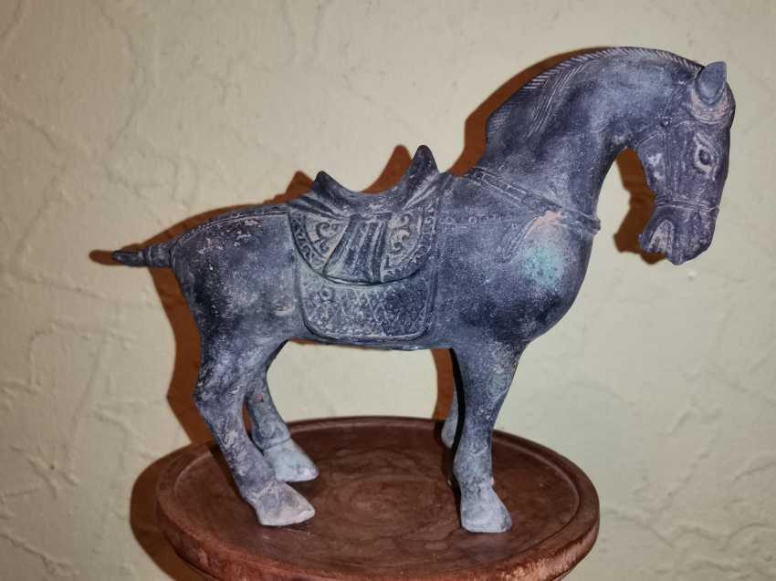 Antique bronze Tang horse. China - photo 2