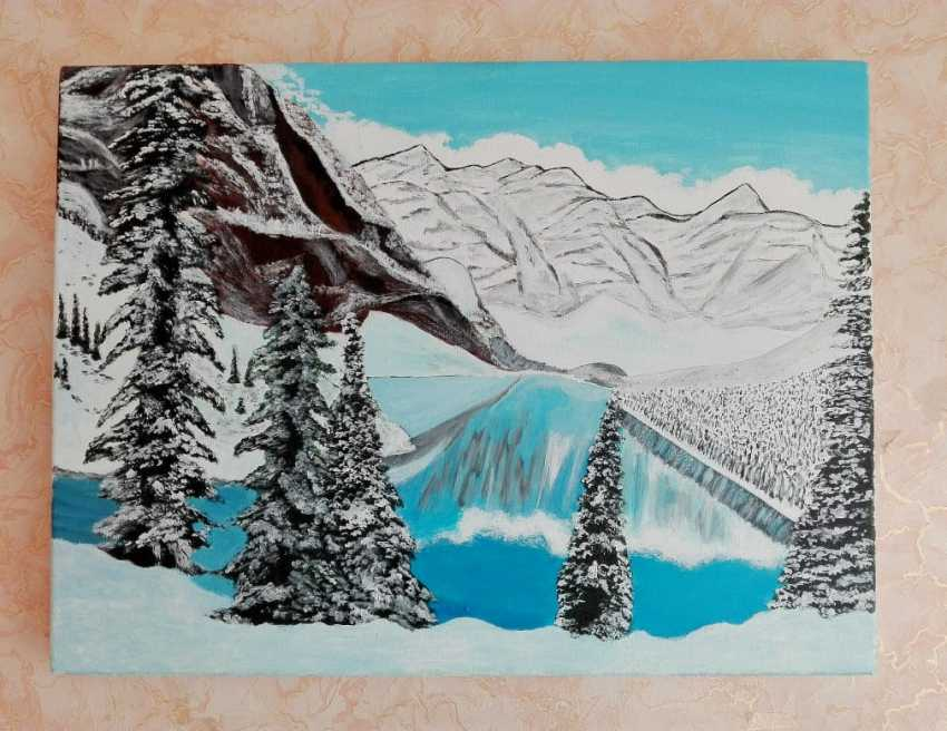"Liliia Bomko. ""Winter in the mountains"" - photo 2"