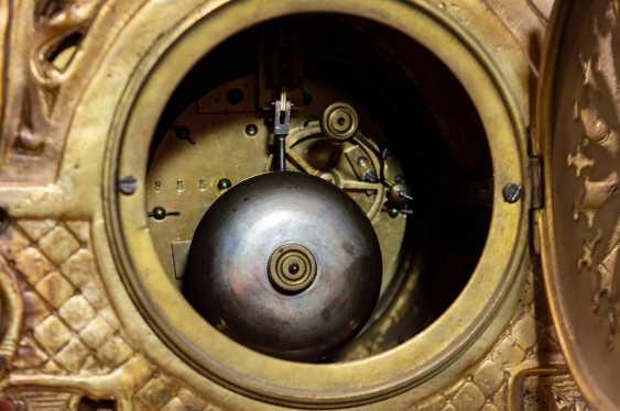 Antique set mantel clock - photo 3