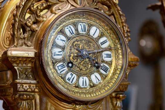 Antique set mantel clock - photo 4