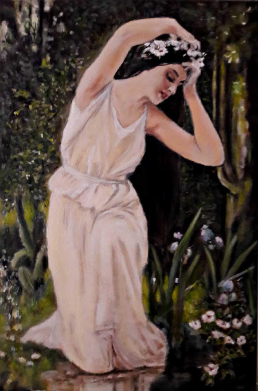 Svitlana Antonova. Girl in the forest brook - photo 1