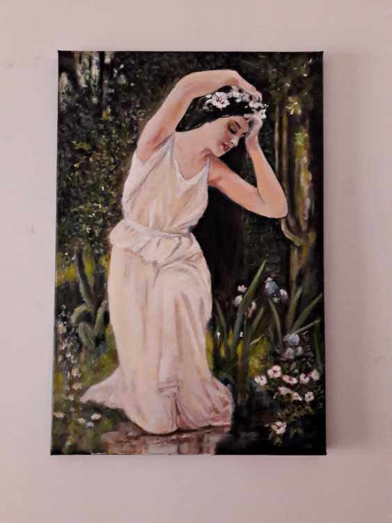 Svitlana Antonova. Girl in the forest brook - photo 2