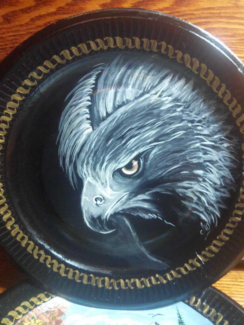 Lyudmila Kumaneva. Plates with painted - photo 2