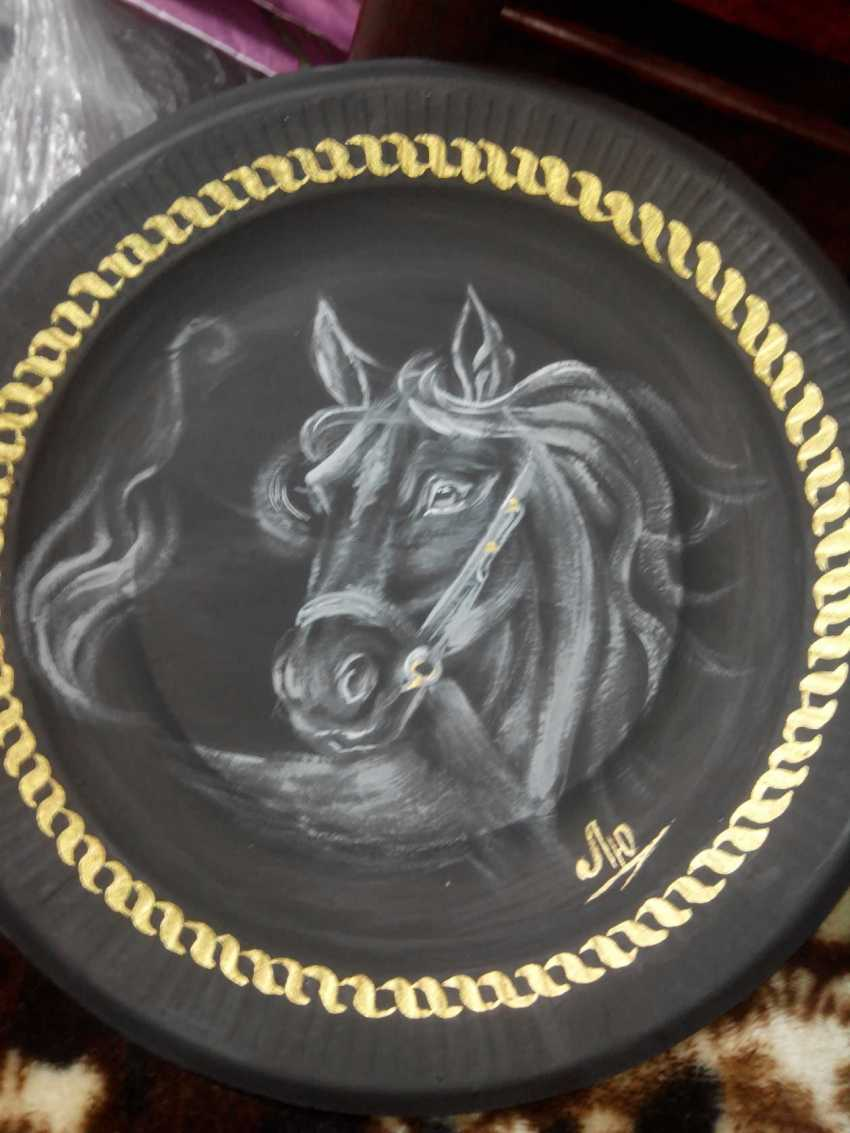 Lyudmila Kumaneva. Plates with painted - photo 4