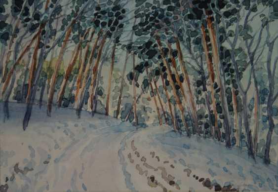 Aleksandr Zgursky. Winter road - photo 1