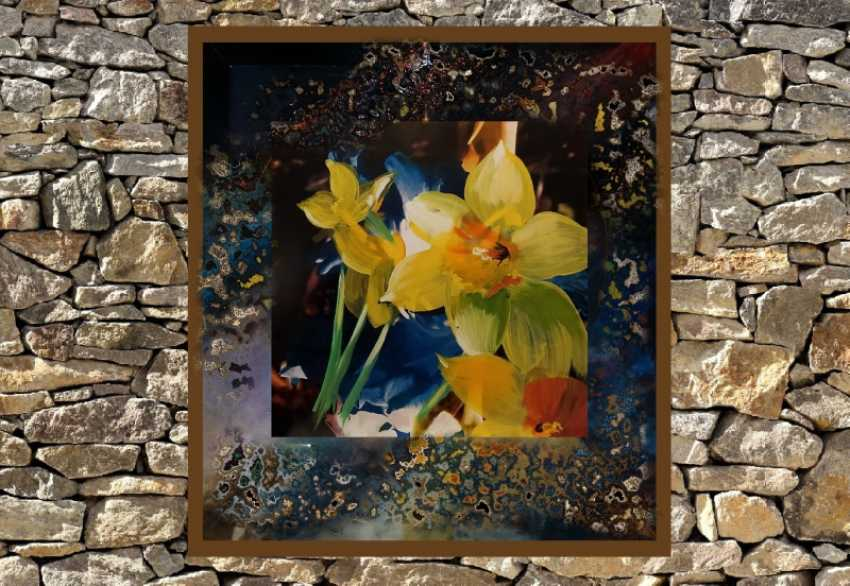 "Valeriy Dzygalo. No. B6 ""Flash Graphics"" (acrylic, mixed technique on cardboard) - photo 2"