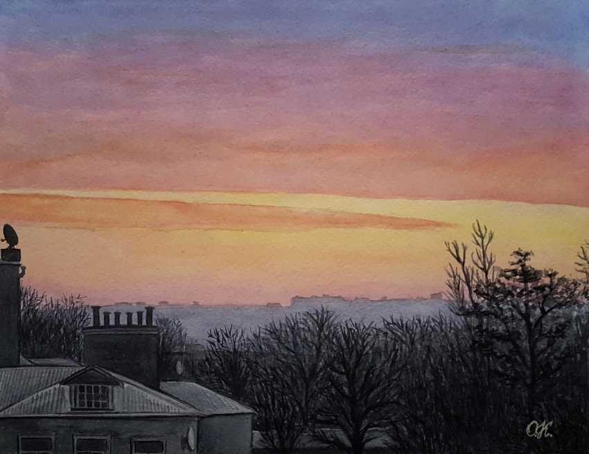 "Olha Krasko. ""Dawn in the city"" - photo 1"