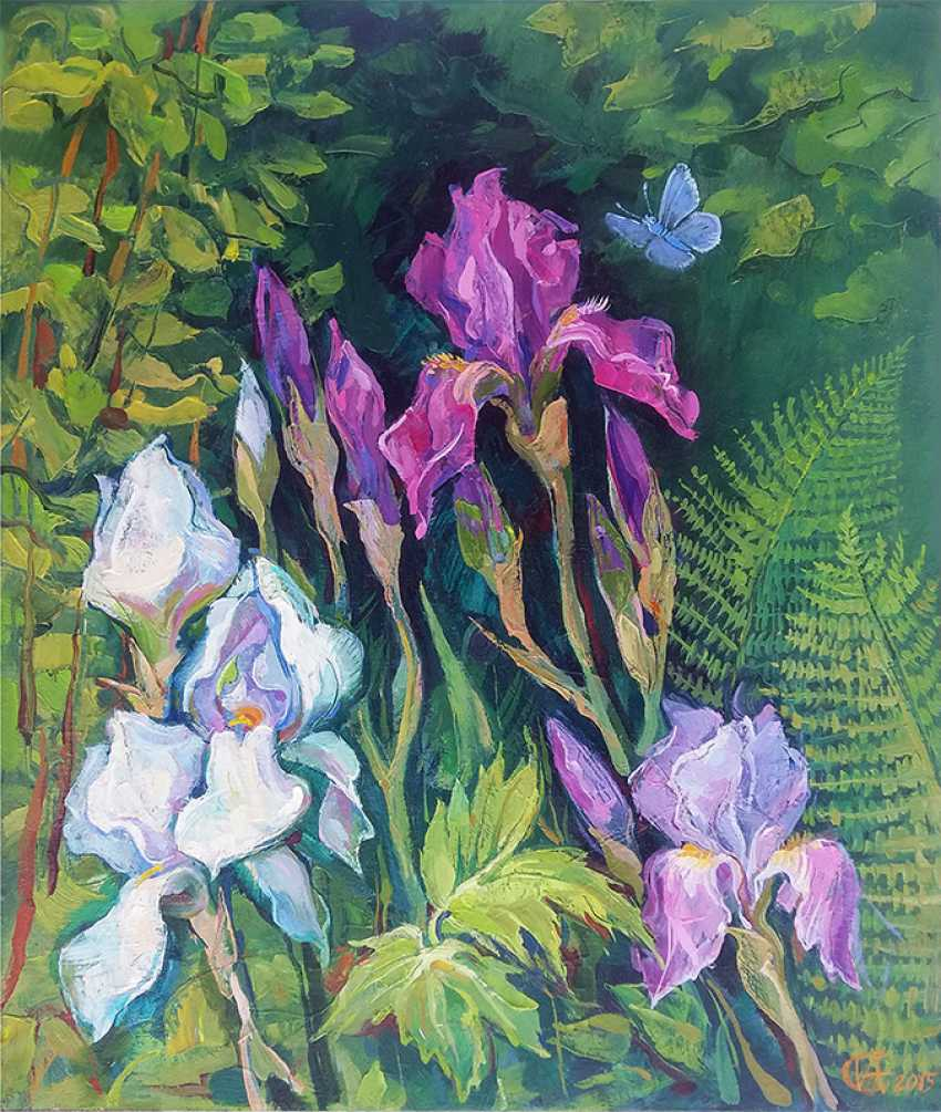 "Irina Andreieva. ""Irises in my garden"" - photo 1"