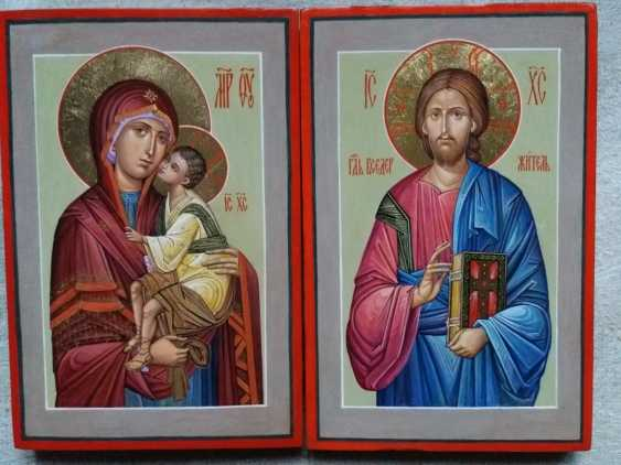 Slava Nikityuk. Wedding pair of icons of the virgin and Jesus Christ. - photo 4