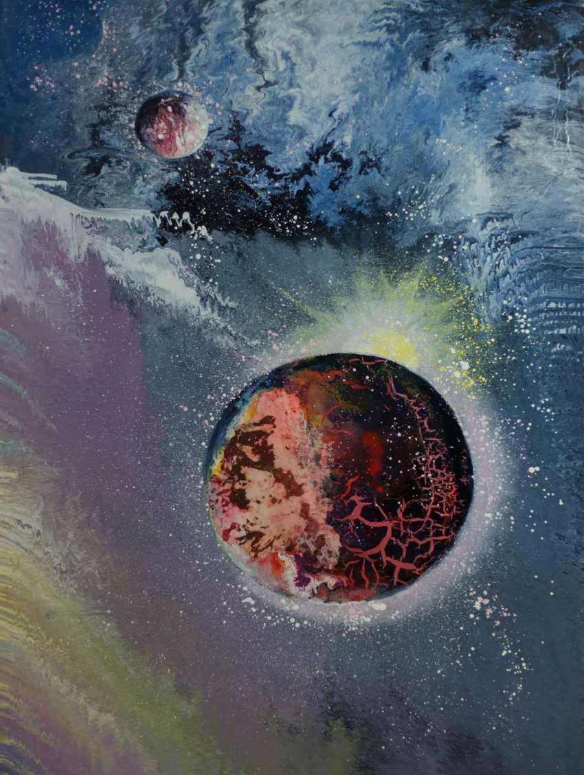 """Alla Struchaieva. Das Gemälde """"Wiedergeburt des Universums"""" - Foto 1"""