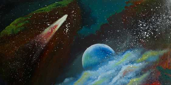 """Alla Struchaieva. The painting """"Two worlds in the Universe"""" - photo 1"""