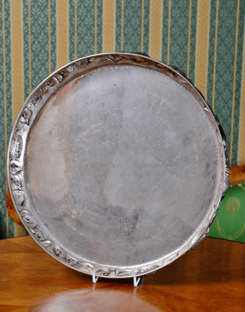 Tray of silver, the beginning of XX century - photo 1